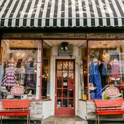 """<b>↑</b> As the name suggest, <a href=""""http://flirt-brooklyn.com/"""">Flirt</a></b> (93 Fifth Avenue) is a nook of feminine style. With an emphasis on local designers and a vintage-inspired aesthetic, you'll find intrinsically pretty wares here that are eye-"""
