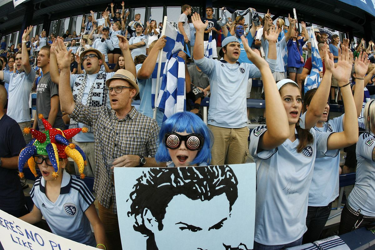 Livestrong Sporting Park will be a rocking on Sunday night, as it hosts the first of two conference finals. (Photo by Ed Zurga/Getty Images)