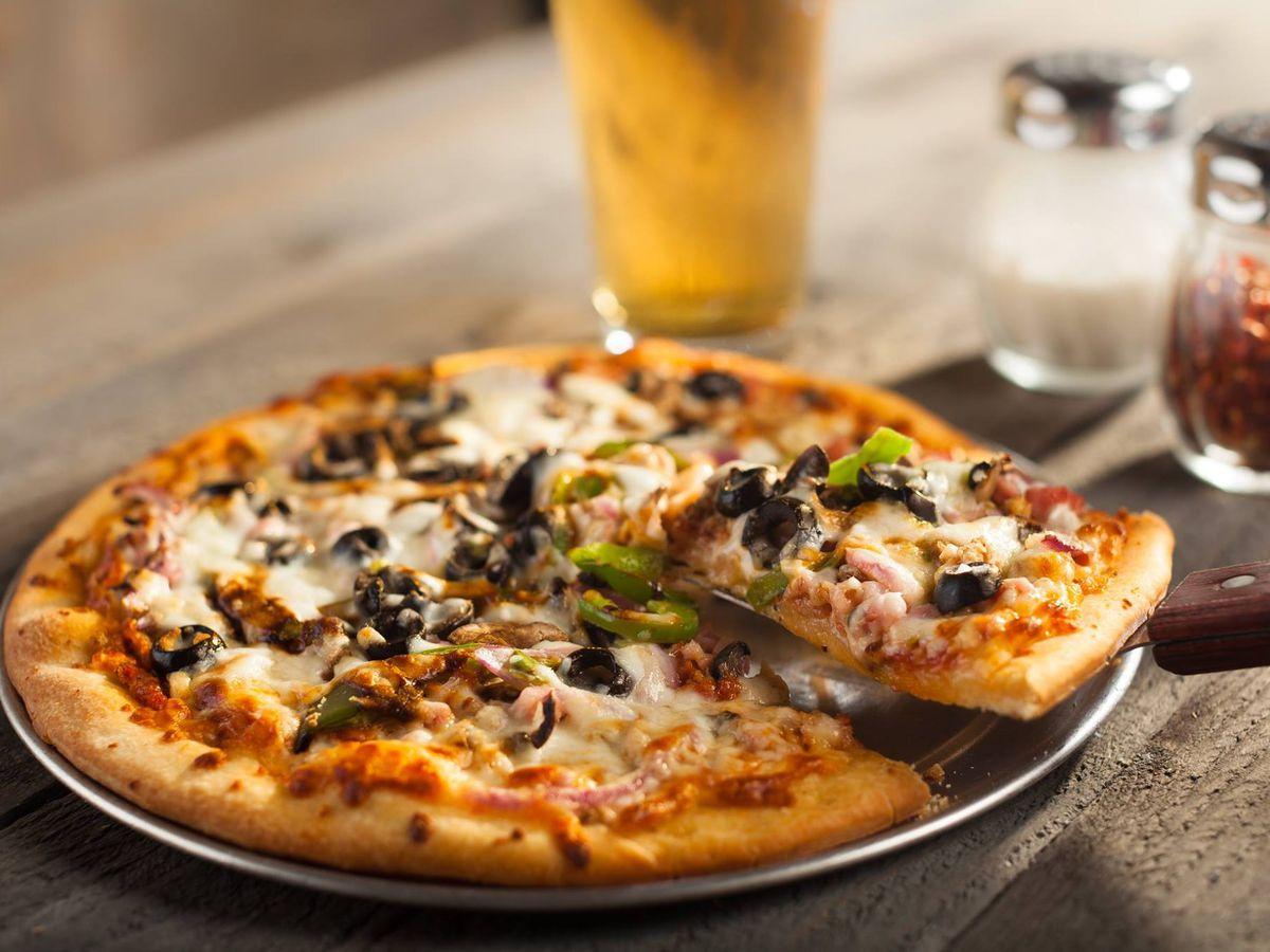 A pie from Austin Pizza Garden