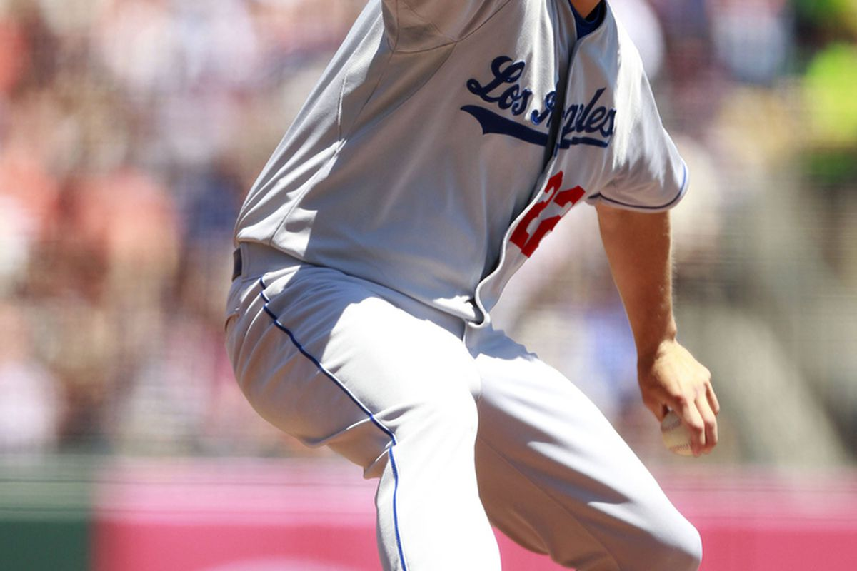Clayton Kershaw pitched his fifth career shutout on Sunday, leading the Los Angeles Dodgers back into a virtual first place tie with the San Francisco Giants after a 4-0 win at AT&T Park. (Photo: Cary Edmondson-US PRESSWIRE)
