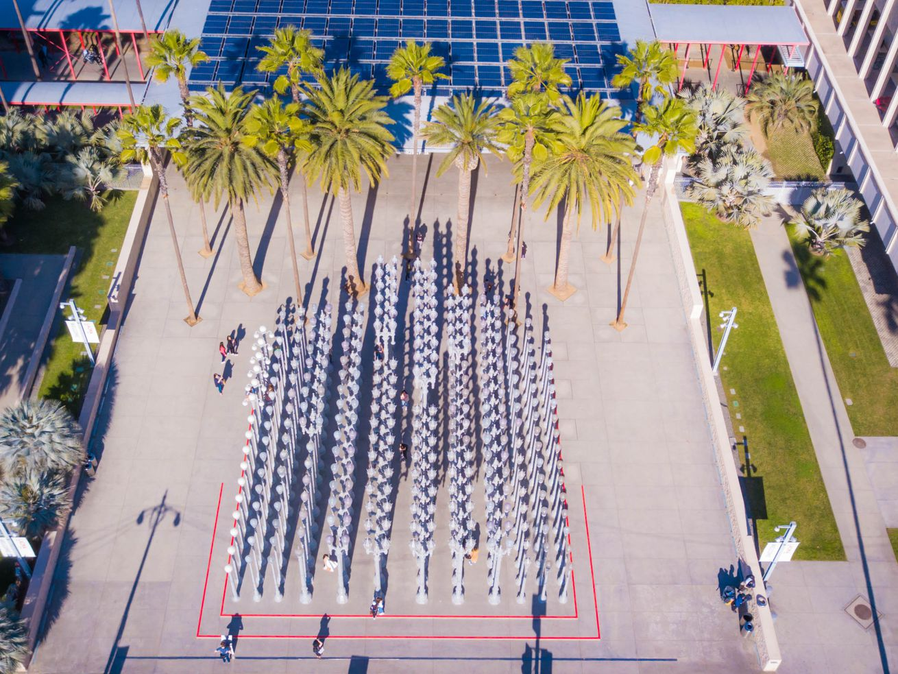 Urban Light—a sculpture, not a building—is one of the most successful parts of LACMA's campus.