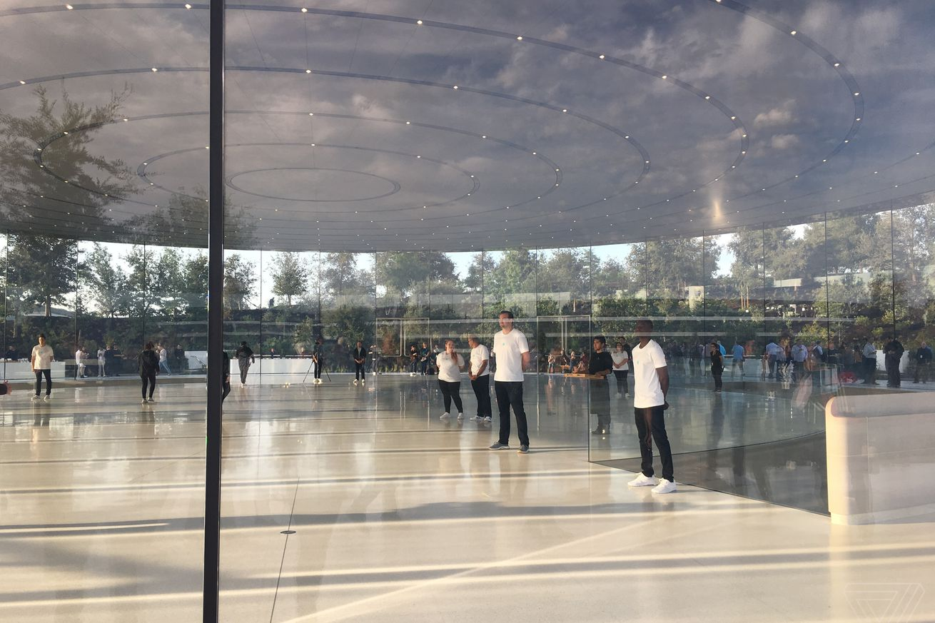 apple employees can t stop walking into the beautiful glass doors at new apple park campus