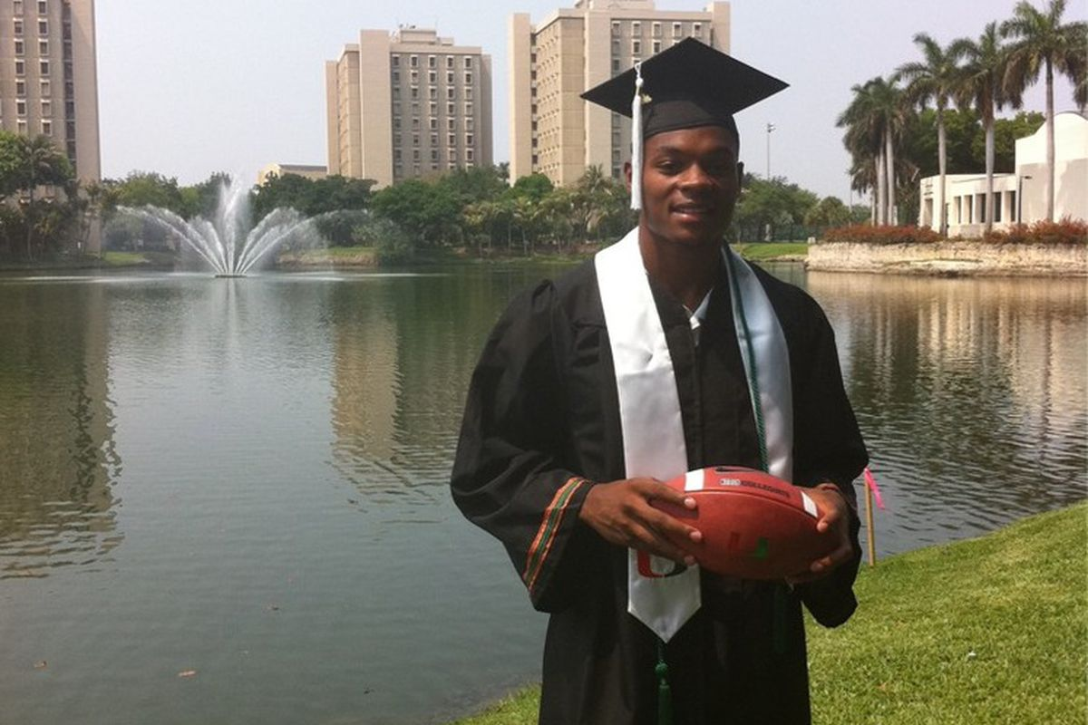 Hank graduates this afternoon from the U. Congrats!