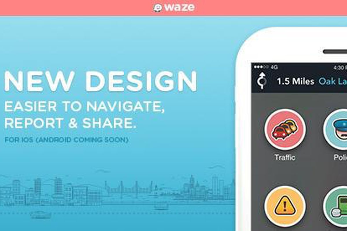 Waze navigation app gets a refreshed look with 4 0 update