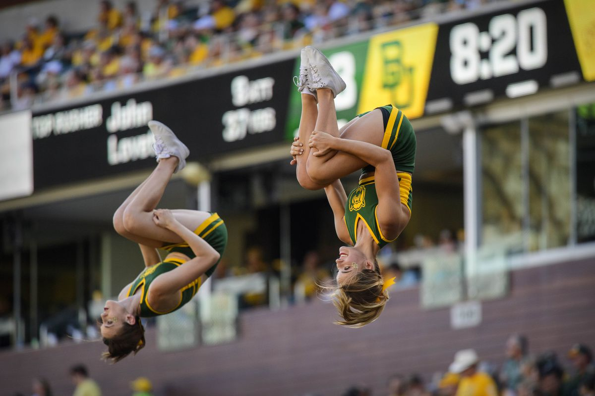 The Real Reason Iowa State Lost: Baylor cheerleaders use their levitation magic to put spells on the Cyclones.