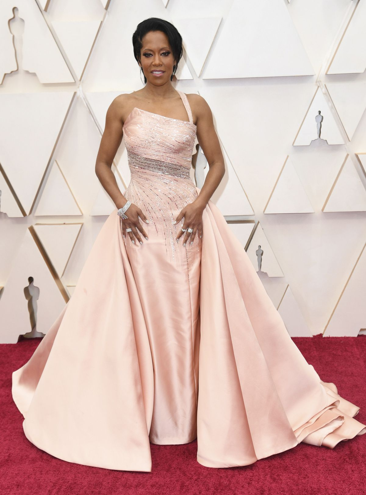 Regina King arrives at the Oscars on Sunday, Feb. 9, 2020, at the Dolby Theatre in Los Angeles.
