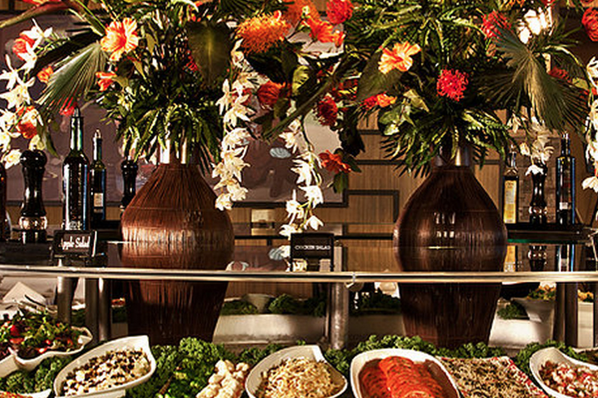 The huge salad bar at Novilhos in Bellevue.