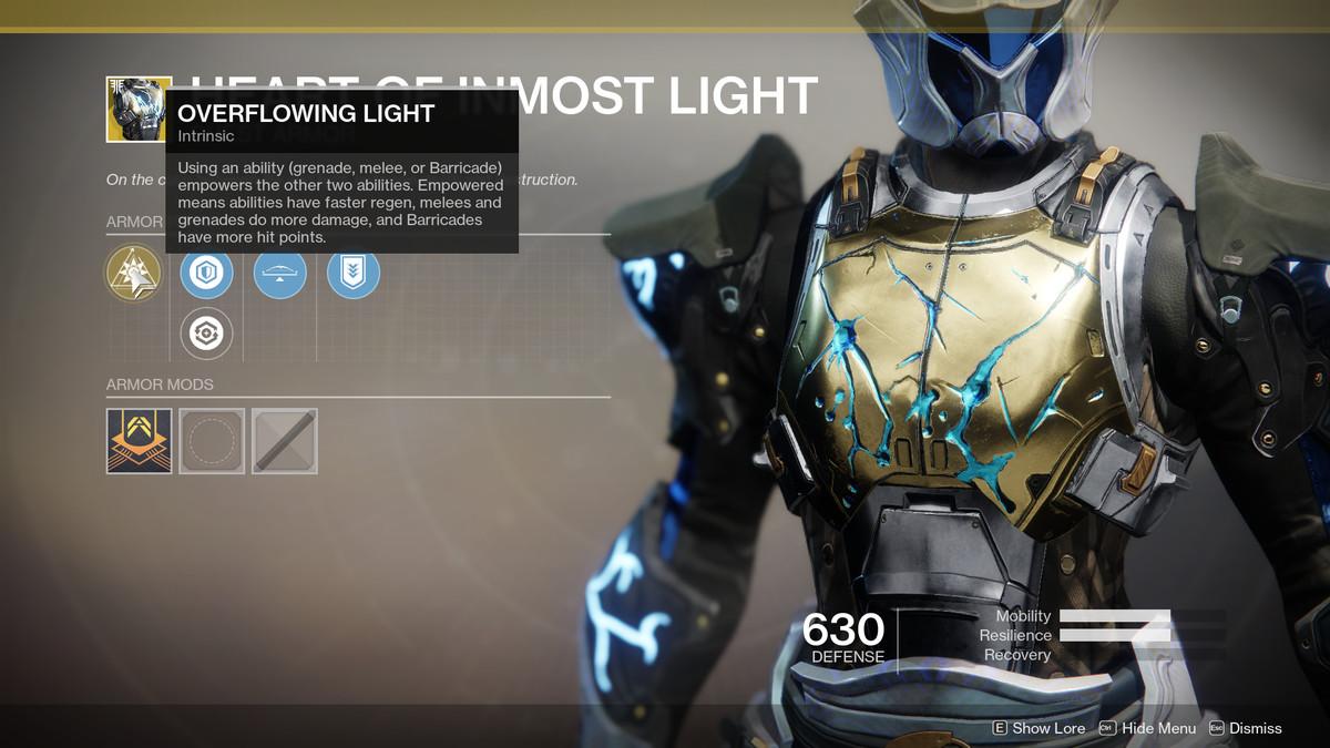 Heart of Inmost Light Exotic Destiny 2