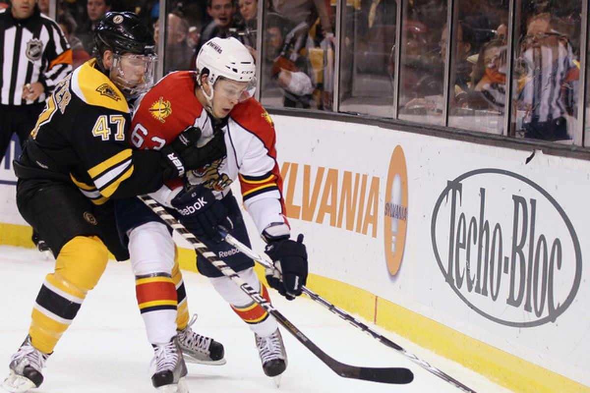 Defenseman Steven Kampfer (in Bruins garb) picked up a point in all three Rampage games this week.