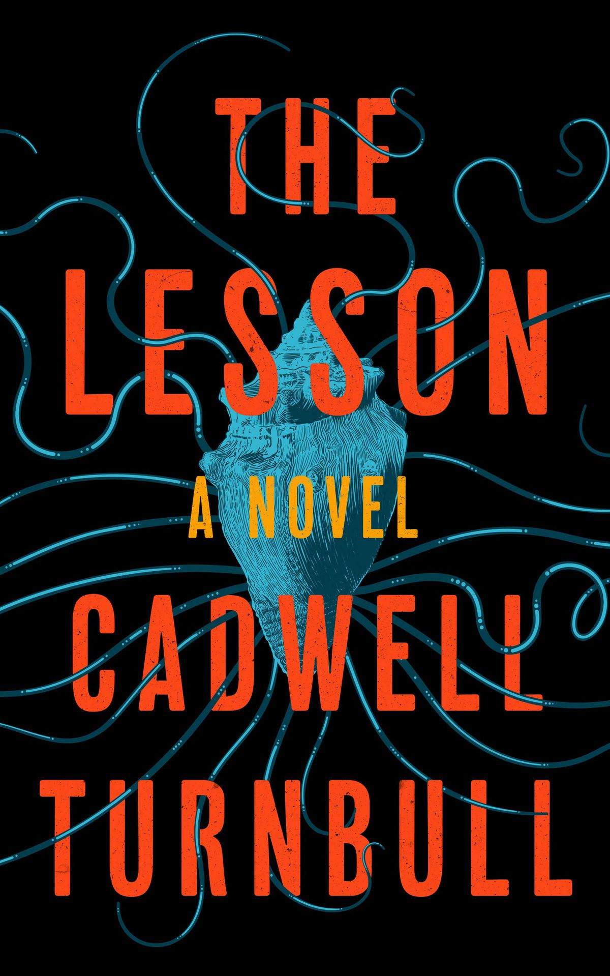 The Lesson by Cadwell Turnbull cover: a seashell against black