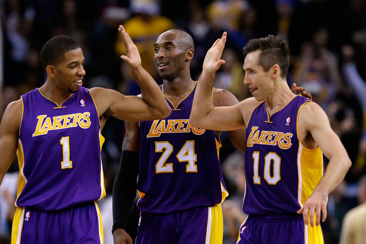 Darius Morris: If Dwight and Pau aren't playing, doesn't that mean more shots for us? Steve Nash: Yeah baby. Kobe: Keep dreaming guys, I'm going for Wilt territory.