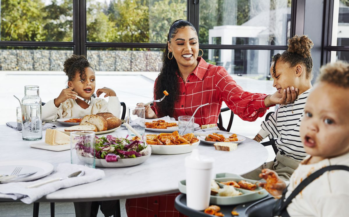 Ayesha Curry at home with kids