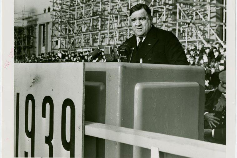 Mayor Fiorello LaGuardia at the 1939 World's Fair in Queens.