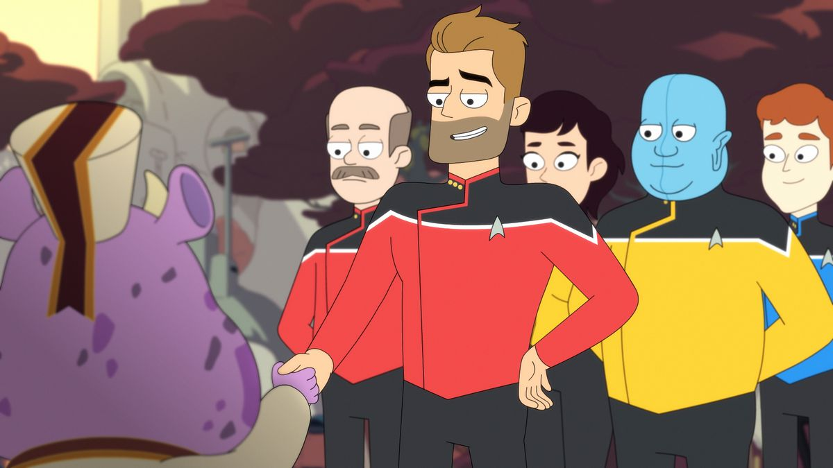 Lower Decks: The captain and his crew meet a purple alien