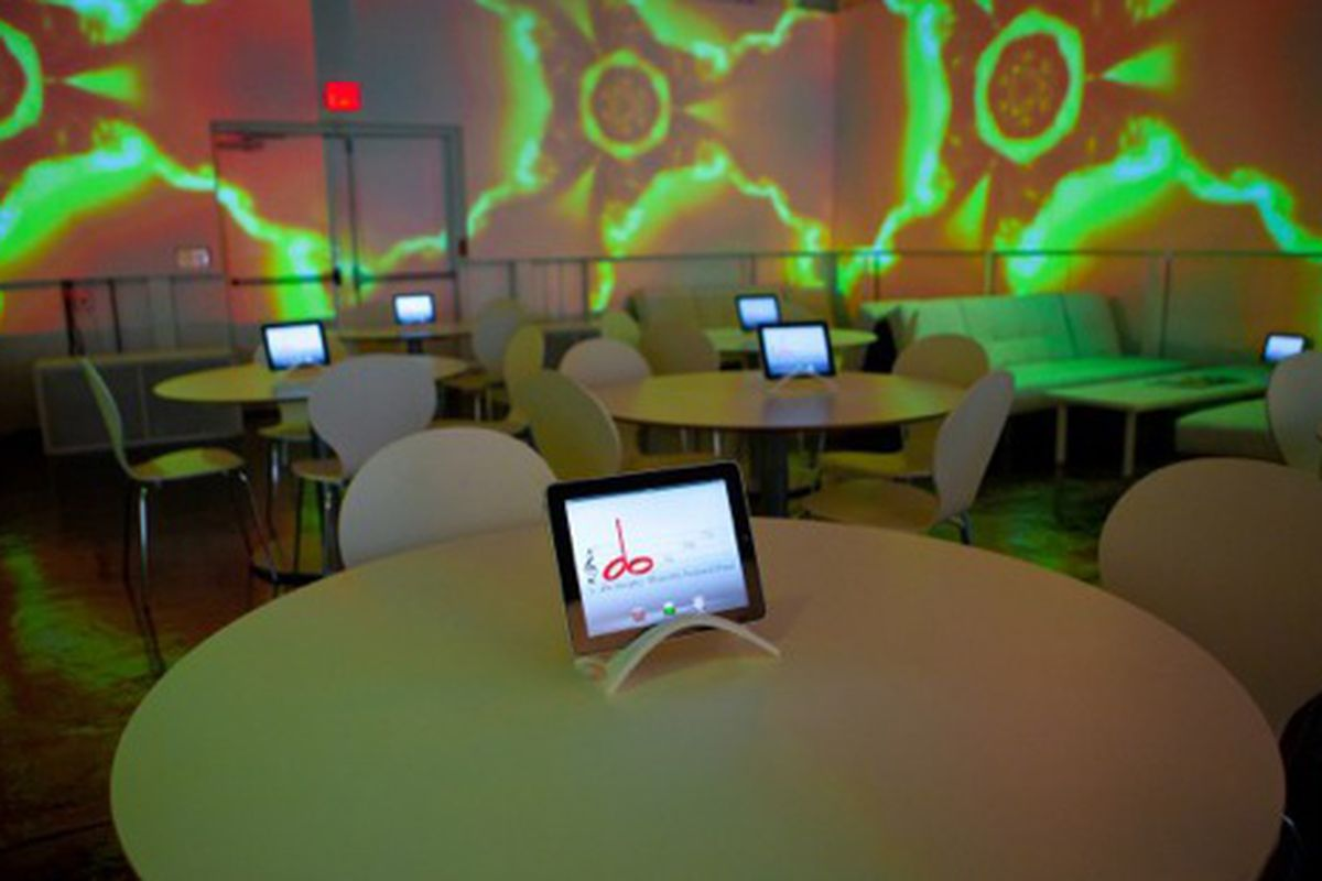 The dining room with iPad at do at The View