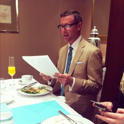 While we dined, the brand's group director Michael Howard read adorable Tiffany engagement ring testimonials