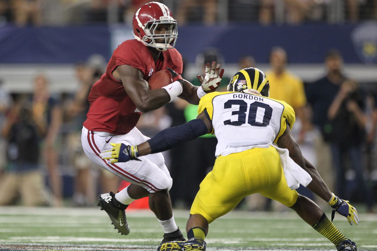 11 carries, 111 yards, 10.1 ypc, and 1 TD (plus another 26 yards through the air).  I for one welcome my new T.J. Yeldon overlord...