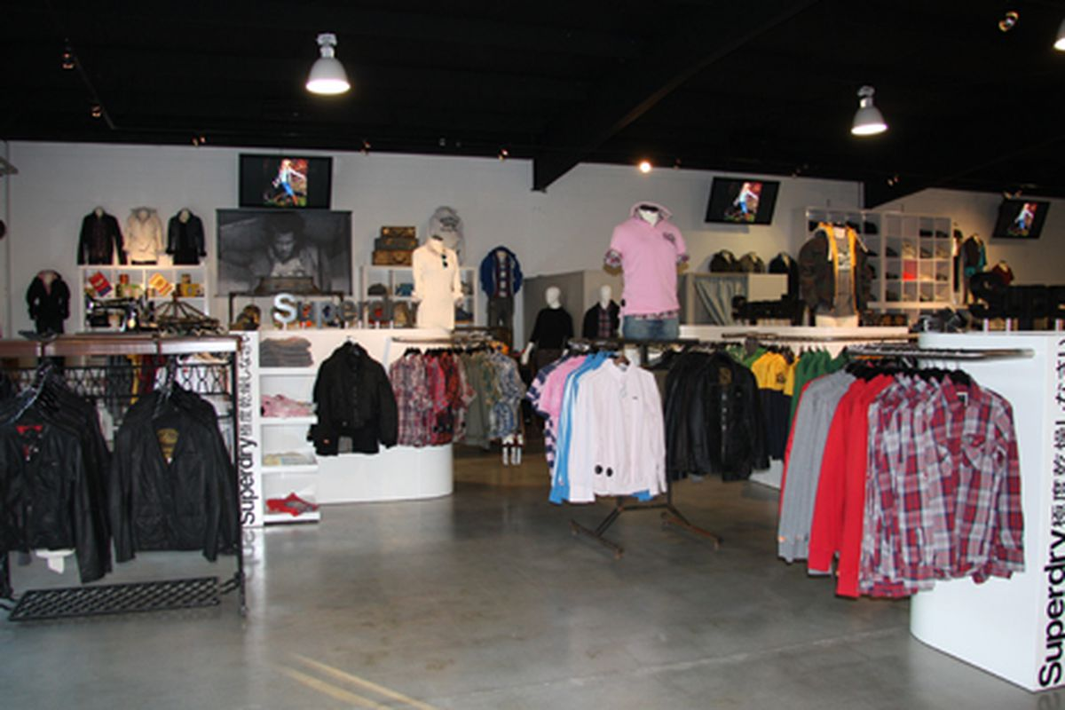 A peek at the Superdry popup at LIVE! On Sunset
