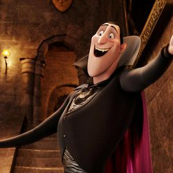 """This image released by Sony Pictures shows Dracula, voiced by Adam Sandler, in a scene from """"Hotel Transylvania."""""""