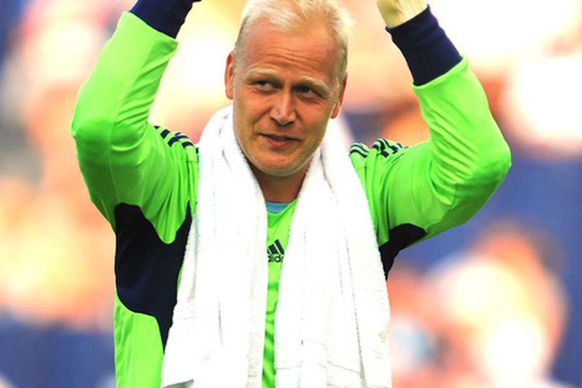 Jimmy Nielsen was named SportingKC's MVP on Saturday. (Photo by G. Newman Lowrance/Getty Images)