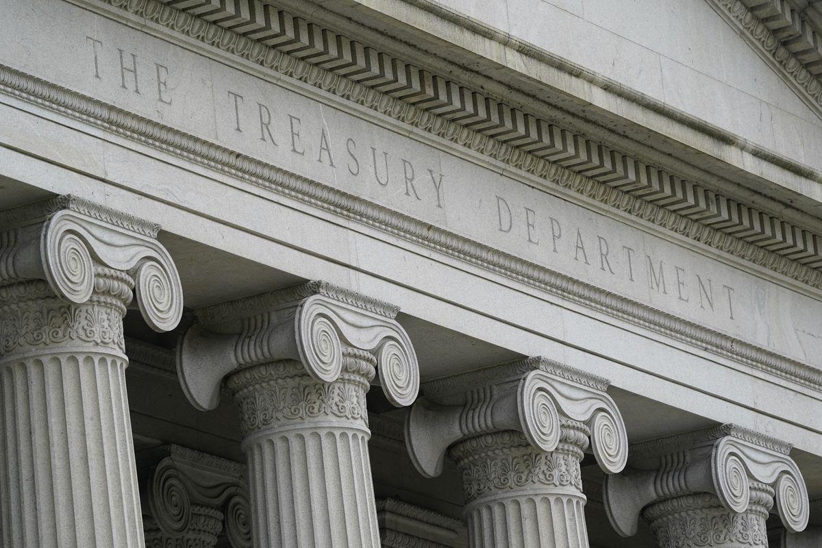 The Treasury Department in Washington.