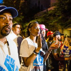 Jennifer Hudson and Chance The Rapper  lead the march after the Rally for Peace, St. Sabina Church, Friday, June 15th, 2018. | James Foster/For the Sun-Times