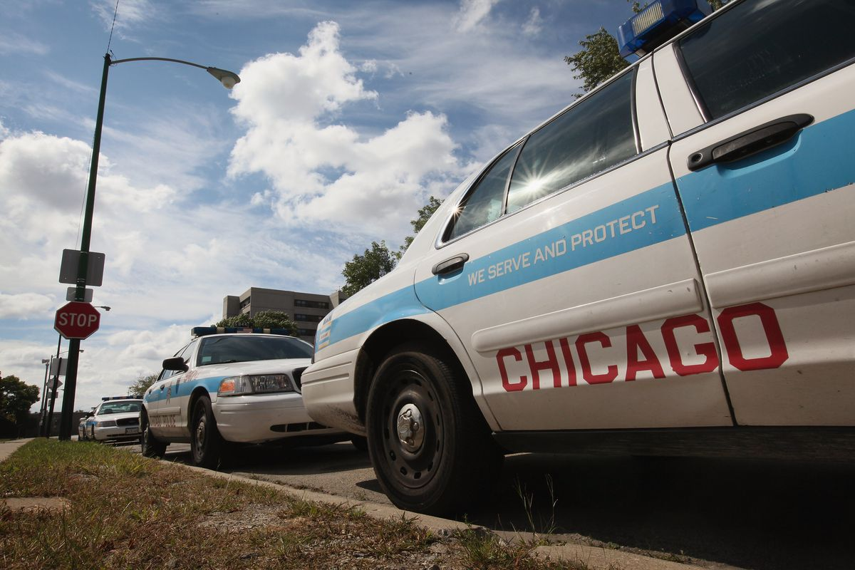 Chicago police cars.