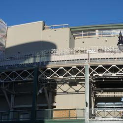 Construction above the marquee
