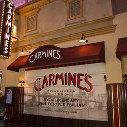 The entrance to Carmine's.