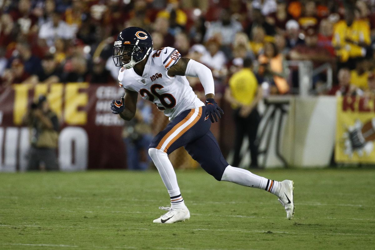 Bears safety Deon Bush was involved in a dust-up with new teammate Jimmy Graham on Tuesday.