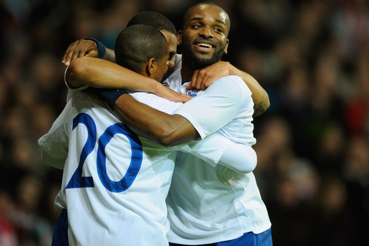 Darren Bent and Ashley Young: future of England?  (Photo by Michael Regan/Getty Images)