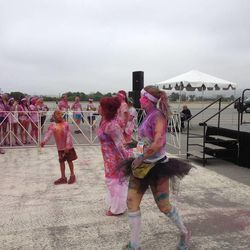 A dance contest takes place after The Color Run 5K.