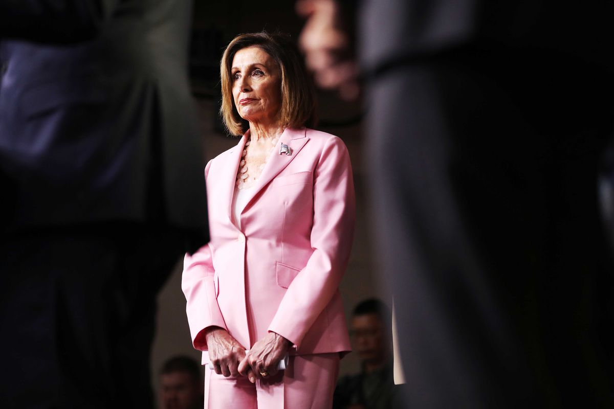 Speaker of the House Nancy Pelosi (D-CA) joins fellow House Democrats at a news conference at the U.S. Capitol.