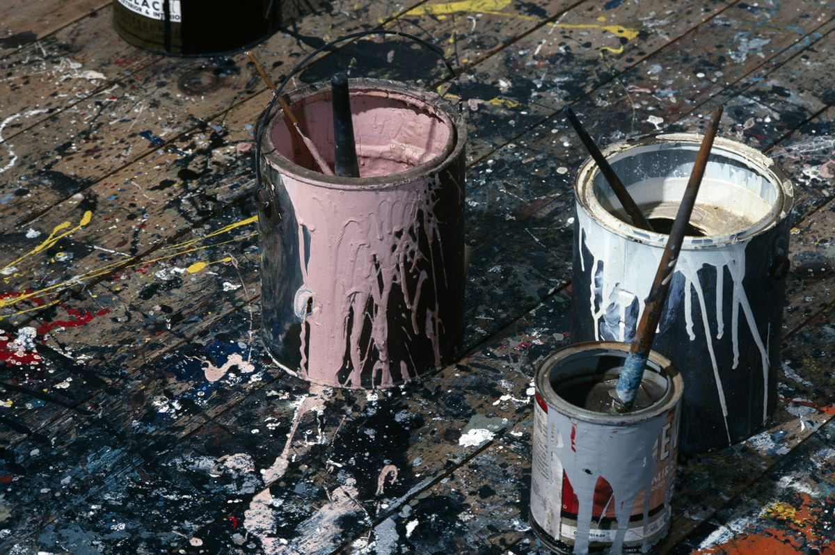 Another shot of Pollock's studio in 1991.
