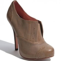"""Betsey Johnson booties, $99.95, at <a href=""""http://shop.nordstrom.com/s/betsey-johnson-derbby-bootie/3157695?origin=category&resultback=836"""" rel=""""nofollow"""">Nordstrom</a>"""