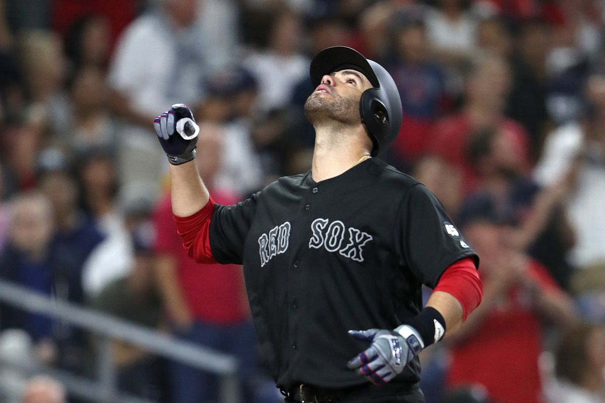 J.D. Martinez leads the way with 7 RBI in Red Sox win over the Padres