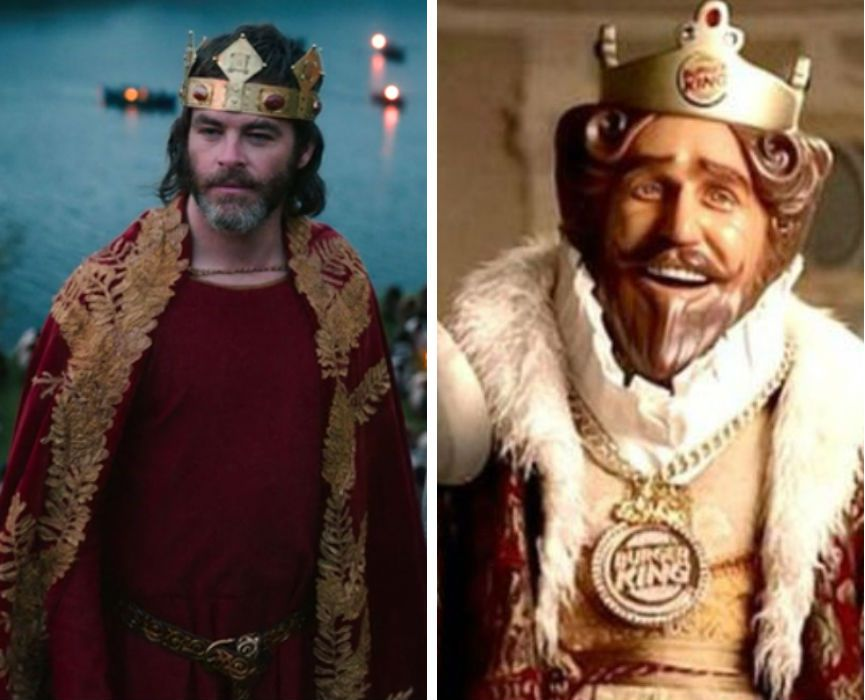 Chris Pine in Outlaw King and The Burger King