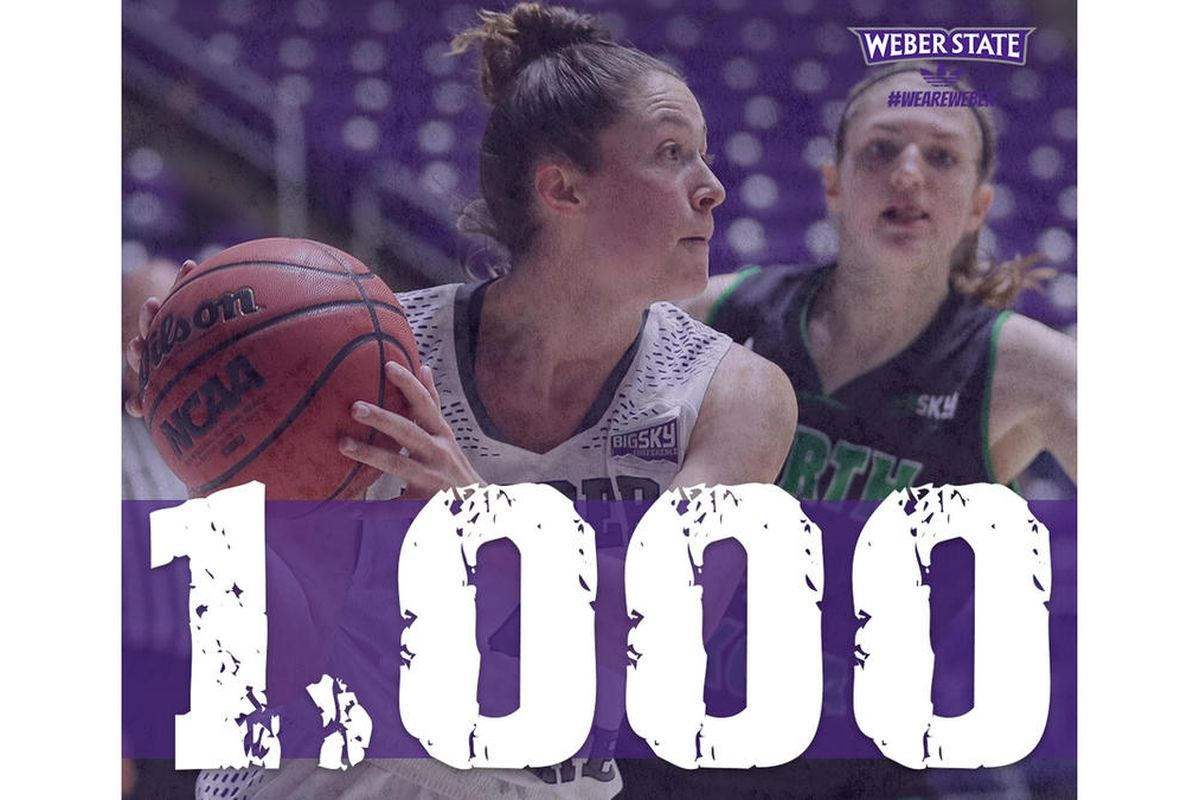 Kailie Quinn broke into the 1,000 career point milestone in Weber State's 76-70 win over Idaho State.