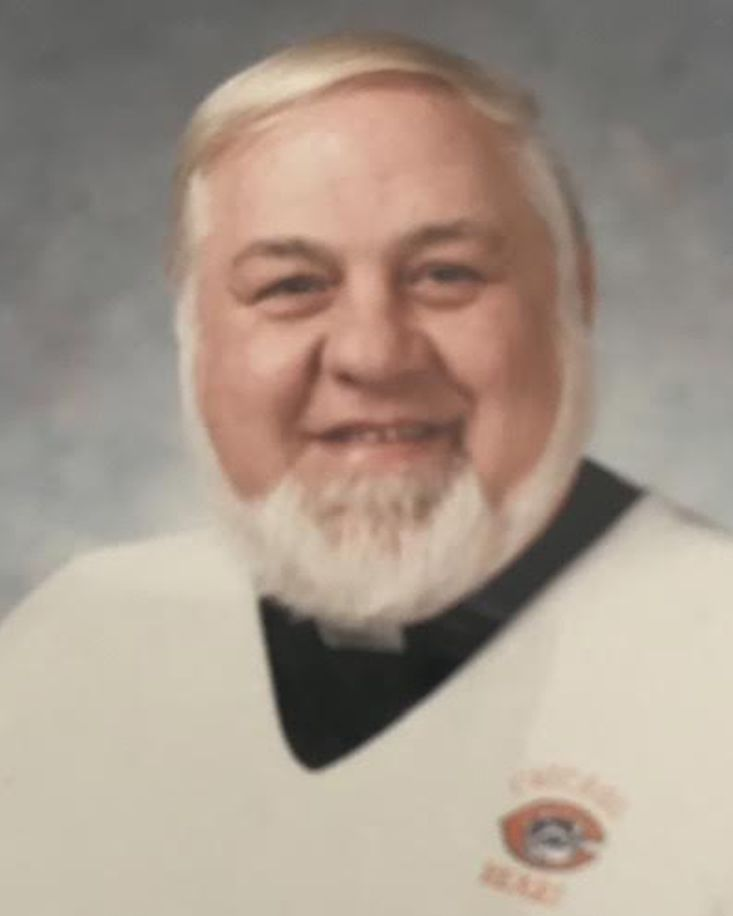"""""""Father Nick"""" in his Bears sweater."""