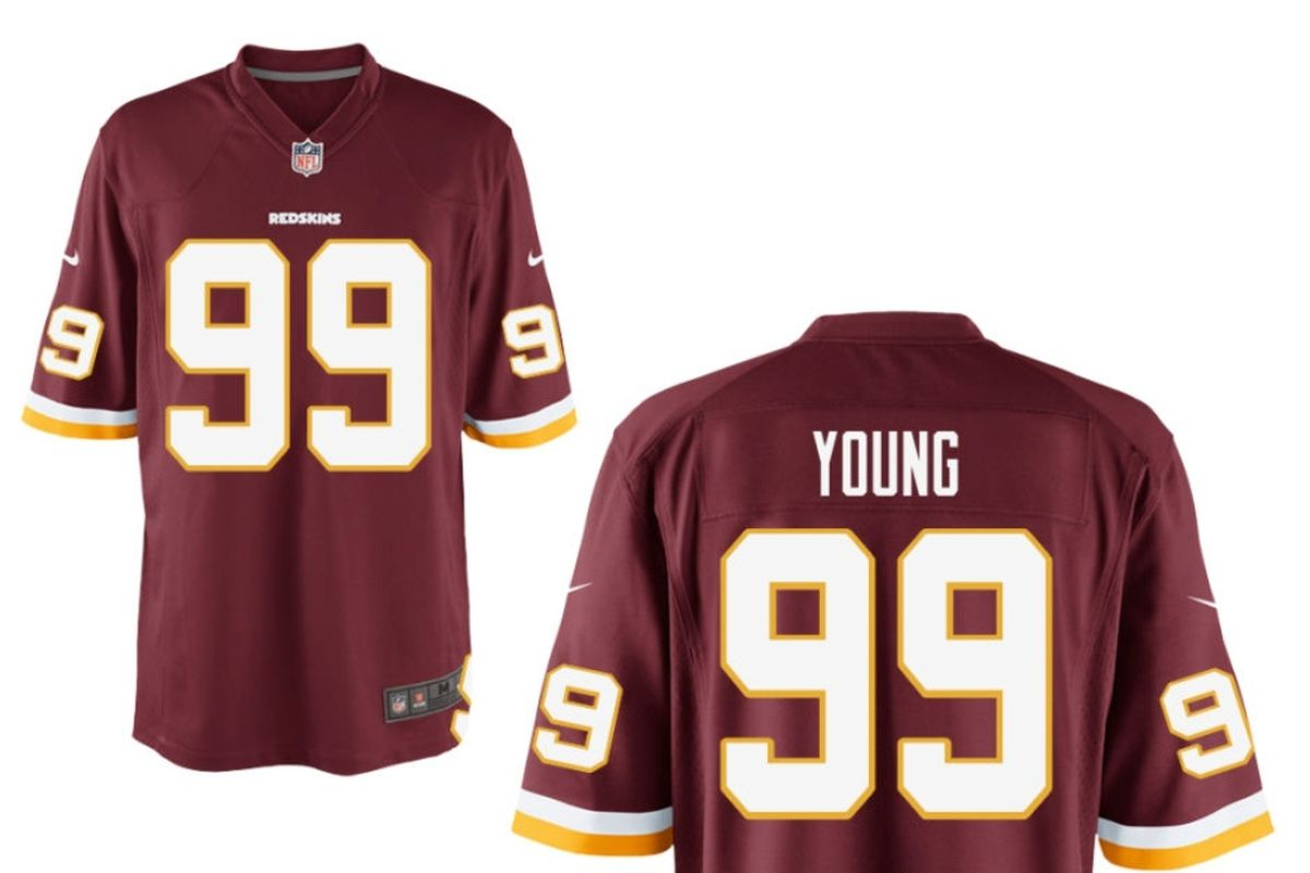 Get your first Chase Young jersey right here! - Hogs Haven