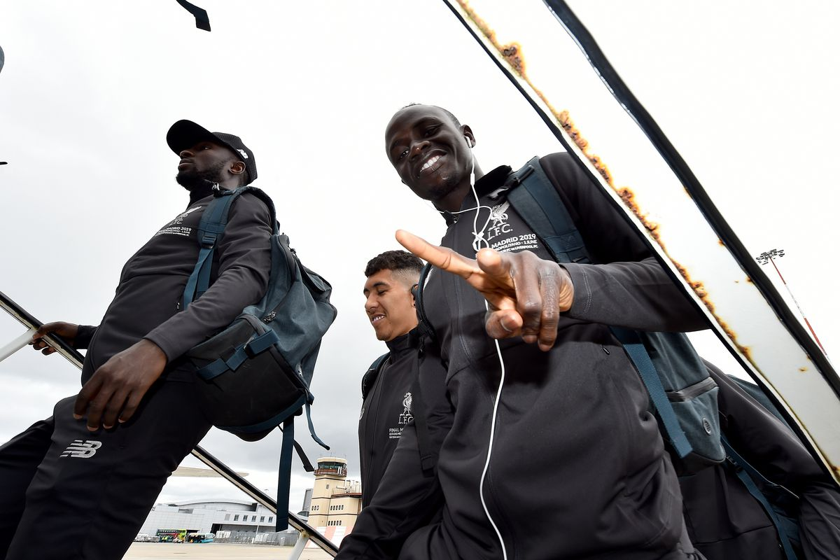 Liverpool Players Depart for the Champions League Final in Madrid