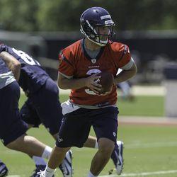 Tom Savage at practice