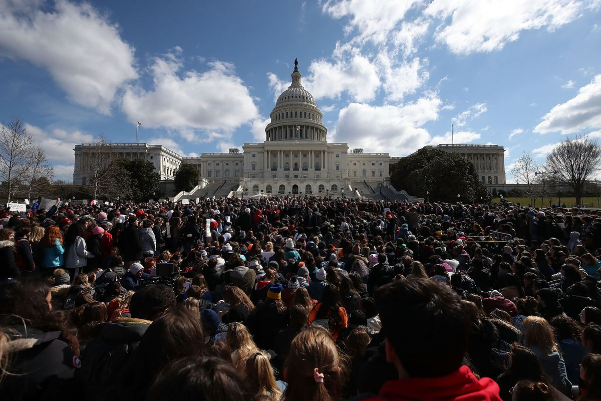 Democratic Lawmakers And Students Hold Rally At Capitol Urging GOP To Allow Vote On Gun Violence Prevention Legislation