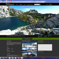 This undated screenshot provided by Microsoft shows Photosynth, which lets you take 360-degree panoramic photos that become interactive on a smartphone or computer screen.  While it's wildly popular and the target of Facebook's $1 billion takeover deal, Instagram isn't the only camera app.