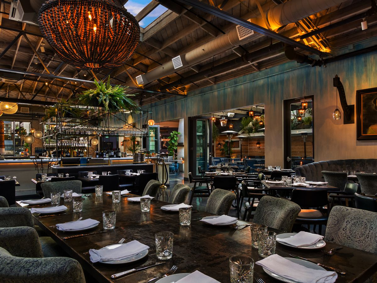 Dining room at Herb & Wood