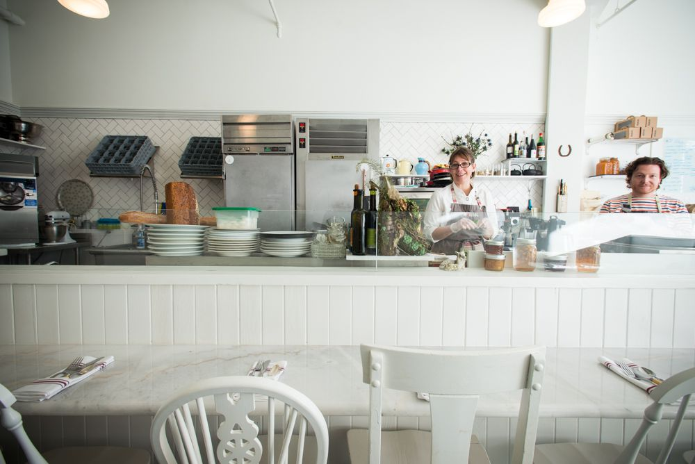 The open-format kitchen at Maurice