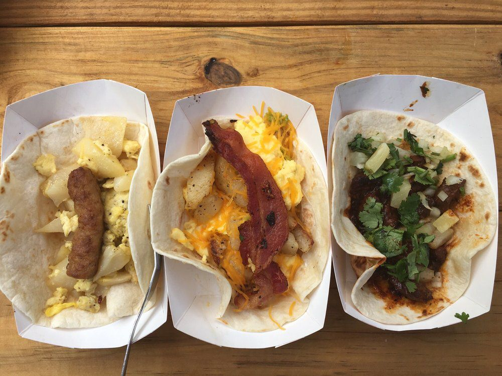 Breakfast tacos at Tamale House East