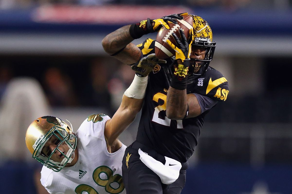 #21 @JaelenStrong makes a grab in last year's Shamrock Series match-up