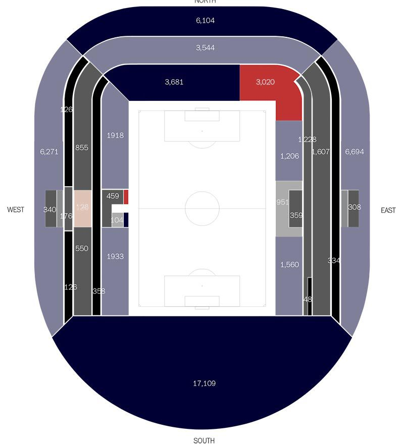 stadium bowl map