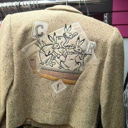 Fighting rabbits jacket at Lola's Urban Vintage